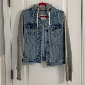 Abercrombie & Fitch hooded jean jacket